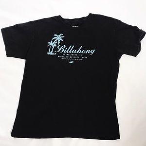 Billabong Black Palm Tree Graphic   T Shirt